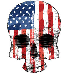 american flag skull vector image
