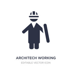 Architech working icon on white background simple vector