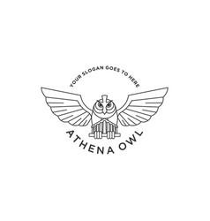 Athena owl logo vector