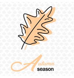 Autumn season oak leave maple background im vector