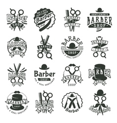 Barber badge vector image