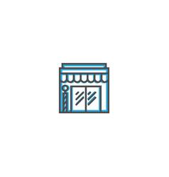 barber shop icon line design business icon vector image