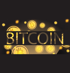 bitcoin background cryptocurrency coins vector image