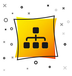 black business hierarchy organogram chart vector image