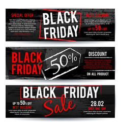 black friday sale horizontal advertising vector image