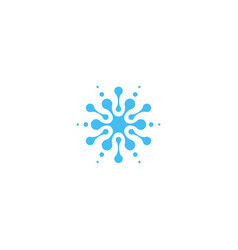 blue abstract water drop icon isolated splash vector image