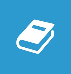 Book icon white on the blue background vector