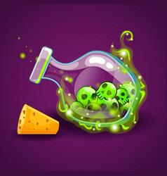Bottle magic elixir with skull-2 vector