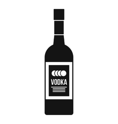 Bottle of vodka icon simple style vector