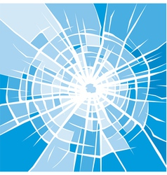 broken glass background of cracked glass vector image