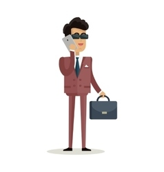 Businessman Character in Flat vector image