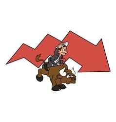 Businessman on bull 3 vector image