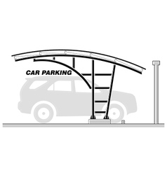 Car parking roofing section vector