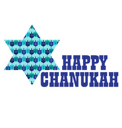 Chanukah graphic with dreidel pattern star vector