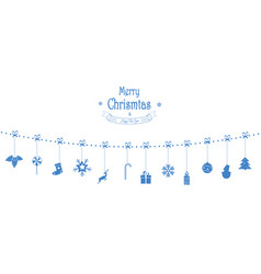 christmas composition garland holiday vector image