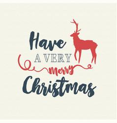 Christmas text quote typography deer vector