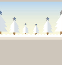 Christmas tree background snow vector