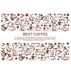 Coffeehouse cafe poster of coffee cups vector