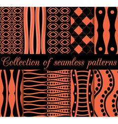 Collection of seamless patterns vector