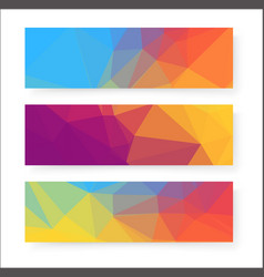 colorful banner design background vector image