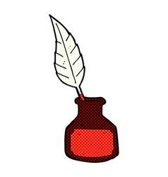 comic cartoon ink bottle vector image