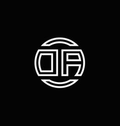 da logo monogram with negative space circle vector image
