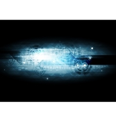 Dark blue hi-tech background vector