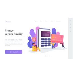debit card landing page template vector image