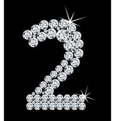 Diamond alphabetic figure vector