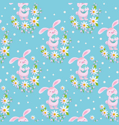 Easter spring seamless pattern vector