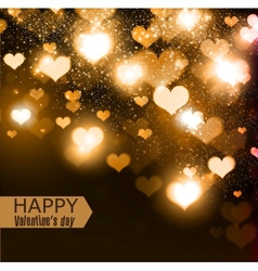 Elegant background with hearts and place for text vector image