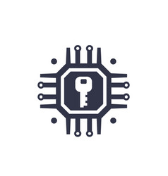 encryption cryptography data protection icon vector image