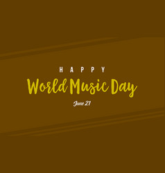 flat world music day collection vector image
