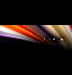 fluid wave line background or pattern geometric vector image