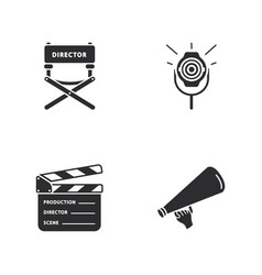 four cinema icons vector image