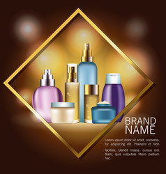 Fragrances products bottles vector