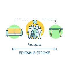free space concept icon place for relax and work vector image
