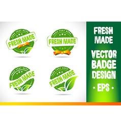 Fresh Made Badge Logo vector image