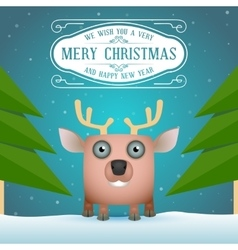 Funny Cartoon Deer vector