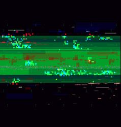 glitch distortion background broken video signal vector image