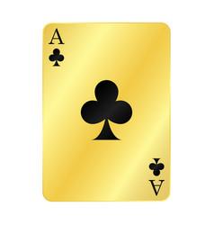 Gold ace spades vector