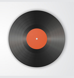 Gramophone vinyl lp record template isolated on vector