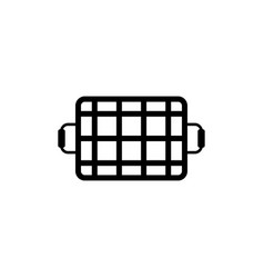 Grill grid flat icon vector