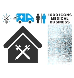 Guard Office Icon with 1000 Medical Business vector image