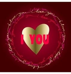Hand drawn typography card Valentine love card vector