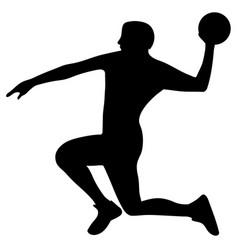 Handball player in attack vector