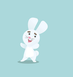 happy bunny flat design vector image