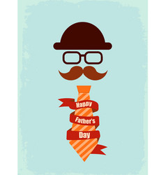 Happy fathers day poster vector