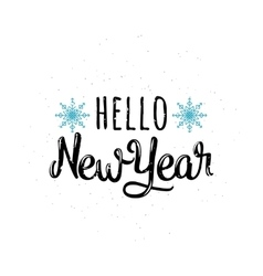 Hello new year vector