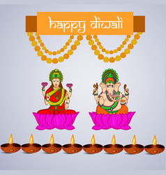 Hindu festival diwali background vector